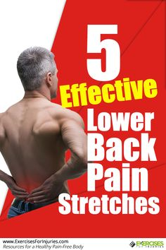 Low back pain can make everyday activities difficult, including exercising. Here are five effective lower back pain stretches to make your back feel better. Lower Back Pain Stretches, Back Pain Exercises, Middle Back Pain, Low Back Pain, Hitt Workout, Back Pain Relief, Sciatica, Lose Belly, Flat Belly
