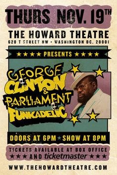 George Clinton poster | Howard Theatre, DC
