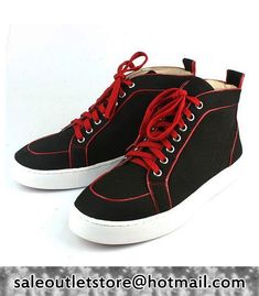 Christian Louboutin Pony Sneakers Black-Red for Men-Ladies,Christian Louboutin High-Top Sneakers,Christian Louboutin shoes cheap,christian Llouboutin Men #Shoes Outlet,Christian Louboutin for Men,Christian Louboutin Sneakers #fashion #style
