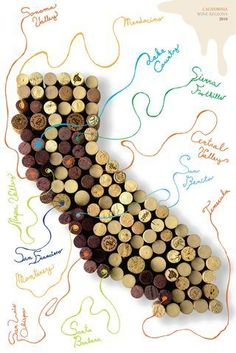WineShop At Home: Wine poster of California's wine growing regions -http://ift.tt/1hb1ALA