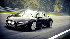 Audi R8 Black---if I ever win the lottery, this will be mine!