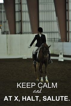 "Dressage ""Keep Calm """
