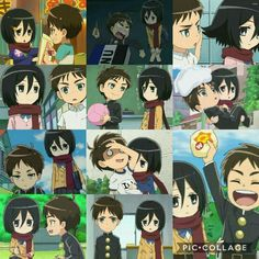 Mikasa Chibi, Eren And Mikasa, Attack On Titan Comic, Rivamika, Eremika, Titans Anime, Anime Ships, Manga, Me Me Me Anime