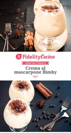 Crema al mascarpone Bimby Happy Foods, Italian Recipes, Sweet Recipes, Panna Cotta, Cupcake, Food And Drink, Sweets, Sugar, Cooking