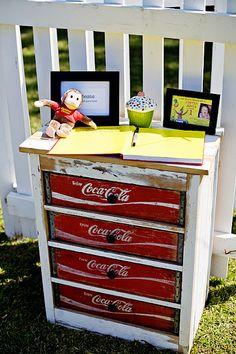 Coca Cola Dresser ....................... #DIY #dresser #cocacolacrates #drawers #paint #stain #chalkpaint #furniture #decor #crafts