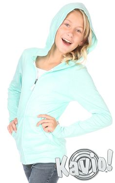 Jersey Long Sleeve Zip Up Hoodie Sizes Zip Ups, Long Sleeve Shirts, Craft Ideas, Hoodies, Big, Girls, Cotton, How To Wear, Jackets
