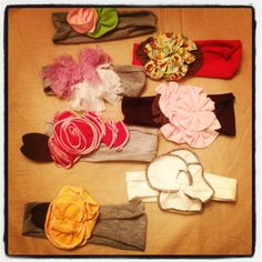 baby girl headband and bows by ForeverTots on Etsy, $4.99