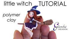Little Witch Chibi halloween polymer clay tutorial