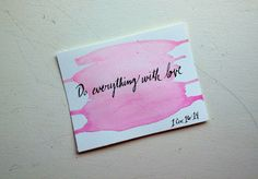 Watercolor Truths by Card Love on Etsy, $5.00. Hand painted one-sided postcard