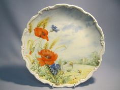 Royal Albert Flowers of the Hedgerow Poppy and Cornflower Collectors Plate