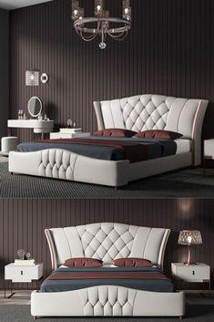 Brand: sipem from China Master Bedroom Interior, Bedroom Closet Design, Bedroom Furniture Design, Home Room Design, Bed Furniture, Bad Room Design, Luxury Furniture, Modern Luxury Bedroom, Luxury Bedroom Design