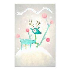 #Christmas deer #Stationery