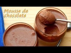 MOUSSE DE CHOCOLATE COM 3 INGREDIENTES - RECEITAS QUE AMO - YouTube Banana Com Chocolate, Frosting, Spices, Food And Drink, Gluten Free, Pudding, Ice Cream, Sweet, Recipes