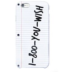 You Wish iPhone 6 Case ($29) ❤ liked on Polyvore featuring accessories, tech accessories, phone cases, phone, cases and technology