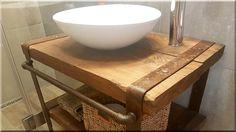 industrial loft design, ipari loft bútor, loft bútor, loft l Natural Wood Furniture, Rustic Furniture, Industrial Loft, Industrial Design, Loft Design, Vintage Designs, Projects To Try, Sink, Sweet Home