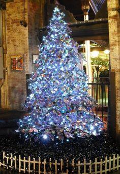 repurposed CD christmas tree