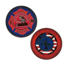 Firefighter Geocoin. This would be the perfect tribute to the firefighters that just saved or town.
