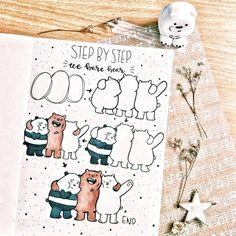 35 Bullet Journal How to Doodle Tutorials (1) - Ten Catalog Doodle Sketch, Doodle Drawings, Easy Drawings, Cute Bear Drawings, Doodle Art Journals, Bullet Journal Notebook, Bullet Journal Aesthetic, Cute Doodles, Bullet Journal Inspiration