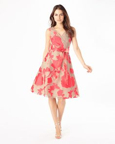 Calista Burnout Fit and Flare Dress