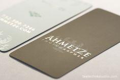 Ahmetze Silver Foil Business Card