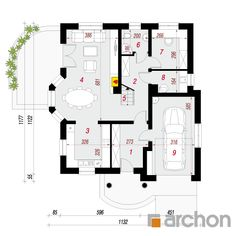 Dom w tymianku 6 (T) Traditional House, Floor Plans, Floor Plan Drawing, House Floor Plans