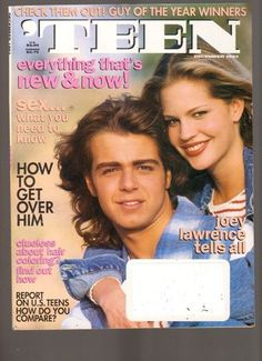 December 1993 cover with seventeen-year-old Joey Lawrence Matthew Lawrence, Joey Lawrence, Getting Over Him, Get Over It, Sassy Magazine, Kris Kross, Rider Strong, Teen World, Mayim Bialik