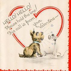 Valentine Card ~ Little Scottie