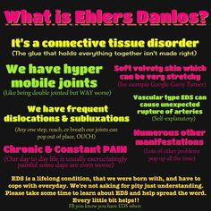 ehlers danlos syndrome (posting on behalf of a friend)