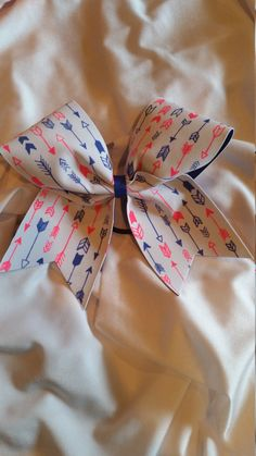 Arrow Cheer Bow by BowsBlingandBeyond4U on Etsy