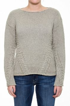 We want to get CO-ZY in this New Scotland Crew Neck Cable Sweater.