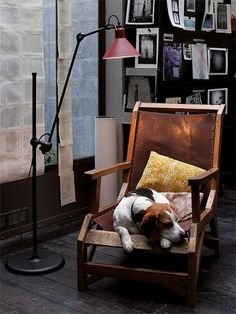 The Lampe Gras 215 Floor Lamp - Black Satin/Red Satin by Lampe Gras has been designed by Bernard-Albin Gras. The 215 floor lamp is constructed from a steel base, cast iron joint, steel shade and a steel arm. A design classic – structure floor lamp. Lampe Gras, Black Floor Lamp, Floor Lamps, Living Room Seating, Living Rooms, House Doctor, Elle Decor, Leather Sofa, Decoration