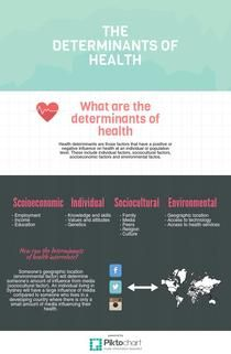 Determinants of health | Piktochart Infographic Editor
