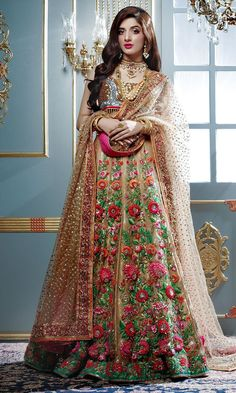 Multicolor colour Wedding Lehenga Choli Designer Bollywood Lehenga with Matching Color unstiched blouse. It contained the Embroidered work with inner. The Lehenga can be customized up to bust size 44 , Lehenga Length 48 , Waist size 38 , and Dupatta size Pakistani Wedding Outfits, Pakistani Wedding Dresses, Indian Dresses, Indian Outfits, Bollywood Wedding, Anarkali, Lehenga Choli, Sari, Choli Dress