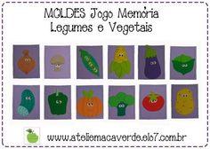 MOLDE - RISCO JOGO MEMÓRIA LEGUMES VEGET | Ateliê Maçã Verde | Elo7