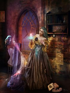 Queen Elissabet's practice int he hall of magic  The Guardians of the Fairy World
