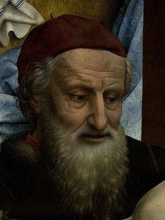 The Descent from the Cross, detail, Rogier van der Weyden