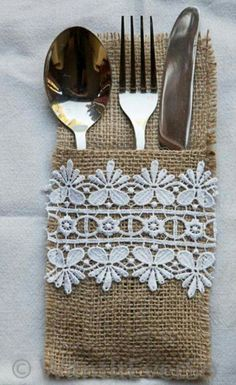 Like this but I would probably make them from bandanas or other fabric. Not a fan of burlap for food use items.
