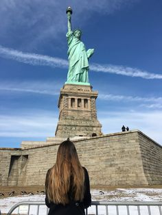 Statue of liberty! Sunny day at New York!
