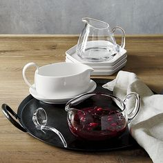 Deluxe Sauceboat with Ladle  | Crate and Barrel