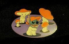 Disney Auctions (P.I.N.S.) - Stitch with Fantasia Mushrooms LE 500 Disney Pin