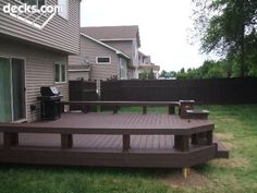 Deck with planters or little POTS OF FIRE