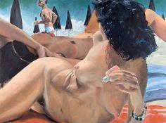 Risultati immagini per eric fischl Tragic Comedy, East Side Gallery, Woman Painting, Figure Painting, Magazine Art, Tag Art, Erotic Art, Figurative Art, Contemporary Artists