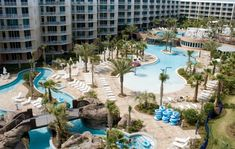 Photos and descriptions of the best resort pools in Destin, Florida Tropical Pool, Tropical Landscaping, Landscaping With Rocks, Destin Resorts, Destin Florida, Fun Places For Kids, Vacation Places, Vacations, Vacation Rentals