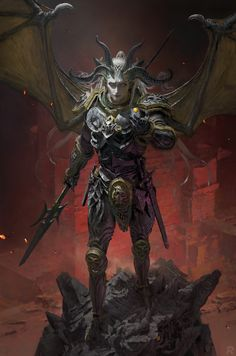 ArtStation - Demon, Ruan Jia Apocalypse Art, Isometric Art, Animation Background, Fantasy Landscape, Fantasy Artwork, Sci Fi Art, Historical Fiction, Fantasy Creatures, Dark Fantasy
