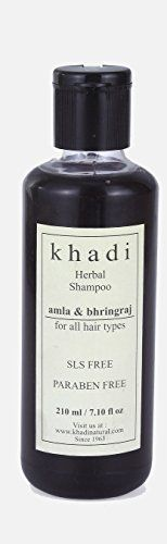 Khadi Natural Herbal Amla and Bhringraj Shampoo for all Hair Types 210 ml ** You can find out more details at the link of the image.Note:It is affiliate link to Amazon.