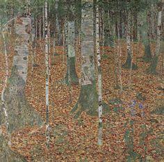 Gustav Klimt「Forest of Birch Trees」(1903)