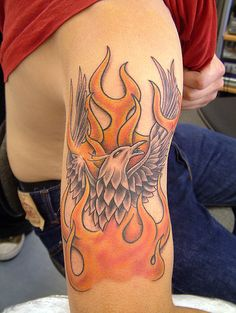 pheonix n flames Tattoo by The Tattoo Studio, via Flickr