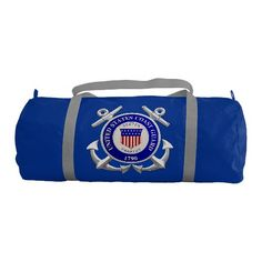 United States Coast Guard Gym Duffel Bag; -   $61.95 - #stanrail -  With two customizable areas, front and back, you will never lose sight of your gym clothes or personal items during your daily grind.  Put thr logo of your company or club. Perfect for the daily necessities and a little extra, this lightweight, one of a kind bag can accompany you anywhere. Neatly folding up into a minimal size for easy storage, this machine washable bag is perfect for your active lifestyle. @stanrails_store
