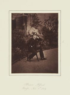 Prince Alfred, Corfu, 1859 [in Portraits of Royal Children Vol.4 1859-1860]