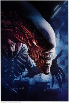 Art by John Bolton for Aliens: Outbreak 1996